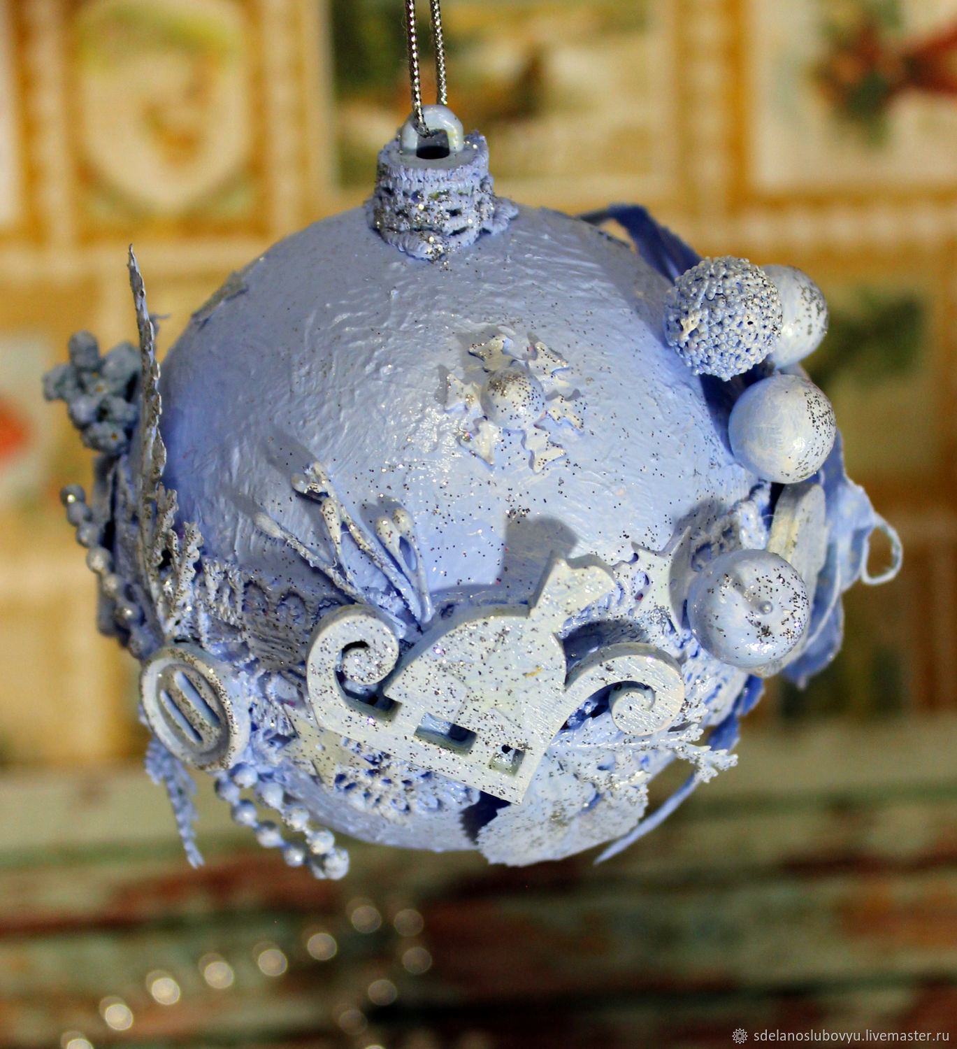 Christmas balls Blue dreams scrapbooking, Christmas decorations, Moscow,  Фото №1