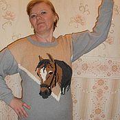 """Одежда ручной работы. Ярмарка Мастеров - ручная работа Свитер """"Лошадка"""". Handmade."""