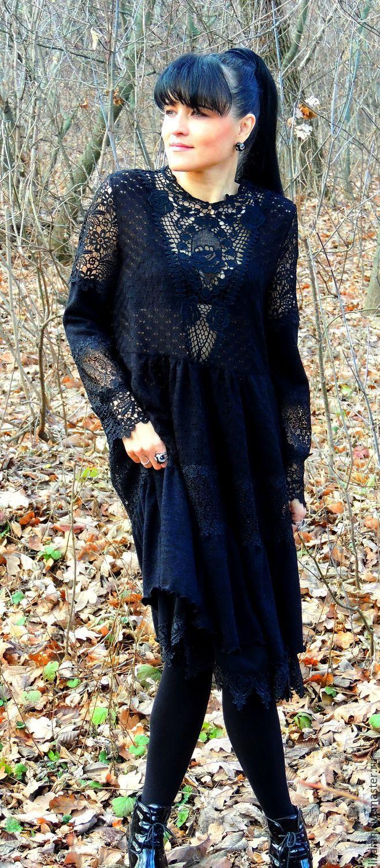 986a809af1e8a Платья ручной работы. Ярмарка Мастеров - ручная работа. Купить Маленькое  черное БОХО платье.