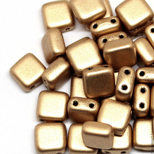 Для украшений ручной работы. Ярмарка Мастеров - ручная работа. Купить Чешская тила 6мм Матовое золото CzechMates Tile 30шт. Handmade.