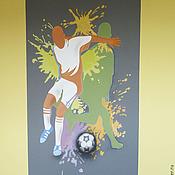 Дизайн и реклама ручной работы. Ярмарка Мастеров - ручная работа футбол. Handmade.