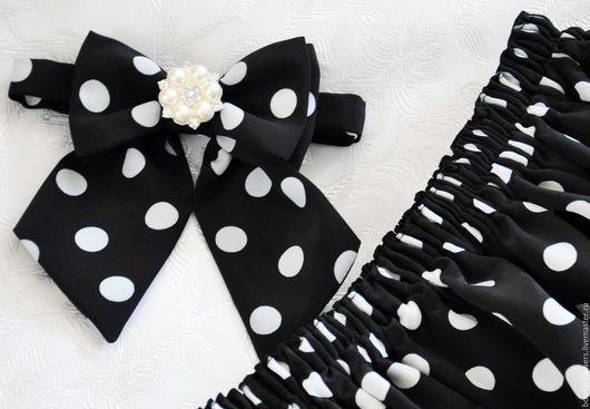 Галстуки, бабочки ручной работы. Ярмарка Мастеров - ручная работа. Купить Юбка и галстук-бабочка детские. Handmade. Черный