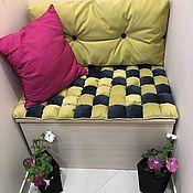 handmade. Livemaster - original item Pillow top mattress back to sofa,outdoor furniture,furniture made from pallets. Handmade.