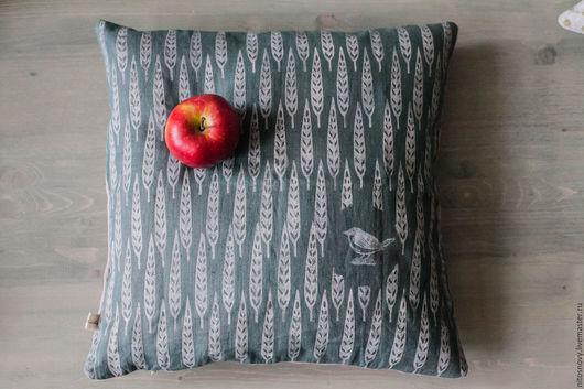 Текстиль, ковры ручной работы. Ярмарка Мастеров - ручная работа. Купить декоративная наволочка на подушку. Handmade. Тёмно-зелёный