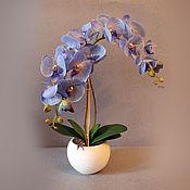 Цветы и флористика ручной работы. Ярмарка Мастеров - ручная работа Голубая орхидея. Handmade.