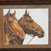 """Картины и панно ручной работы. Ярмарка Мастеров - ручная работа Картина """"Пара коней"""". Handmade."""