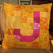 Для дома и интерьера ручной работы. Ярмарка Мастеров - ручная работа Пэчворк-подушка с буквами. Handmade.