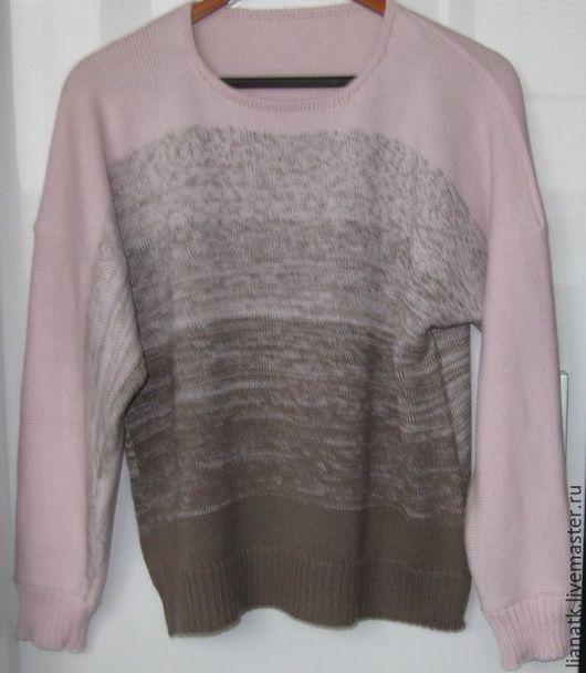 """Кофты и свитера ручной работы. Ярмарка Мастеров - ручная работа. Купить Пуловер """"Деграде"""". Handmade. Разноцветный, пуловер вязаный, кофта"""