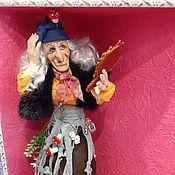 """Народная кукла ручной работы. Ярмарка Мастеров - ручная работа Куклы: Баба Яга """"Чую..чую Кащеюшка едет..."""""""". Handmade."""