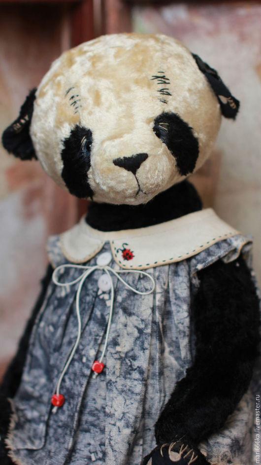 Мишки Тедди ручной работы. Ярмарка Мастеров - ручная работа. Купить Лиза.. Handmade. Черный, винтажный плюш