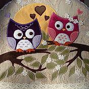 Прихватки ручной работы. Ярмарка Мастеров - ручная работа Грелка на чайник влюблённые совы. Handmade.