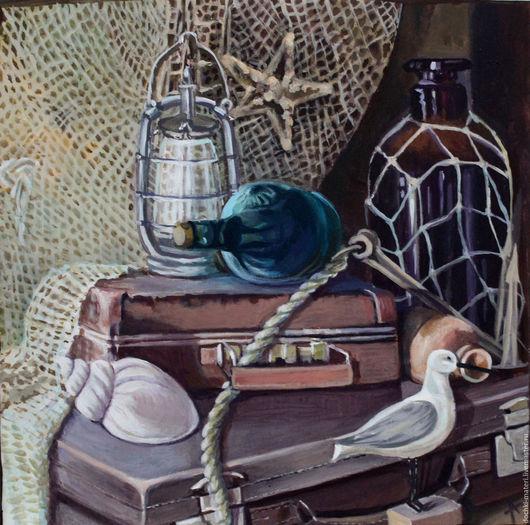 """Натюрморт ручной работы. Ярмарка Мастеров - ручная работа. Купить Натюрморт """"Соленый"""". Handmade. Комбинированный, море, морской, соленый, путешествие"""