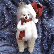 Куклы и игрушки handmade. Livemaster - original item Doggie 25cm symbol 2018 knitted interior toy dog. Handmade.