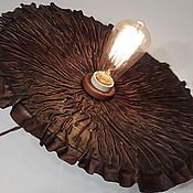 Для дома и интерьера handmade. Livemaster - original item Ceramic chandelier with natural leather trim.. Handmade.