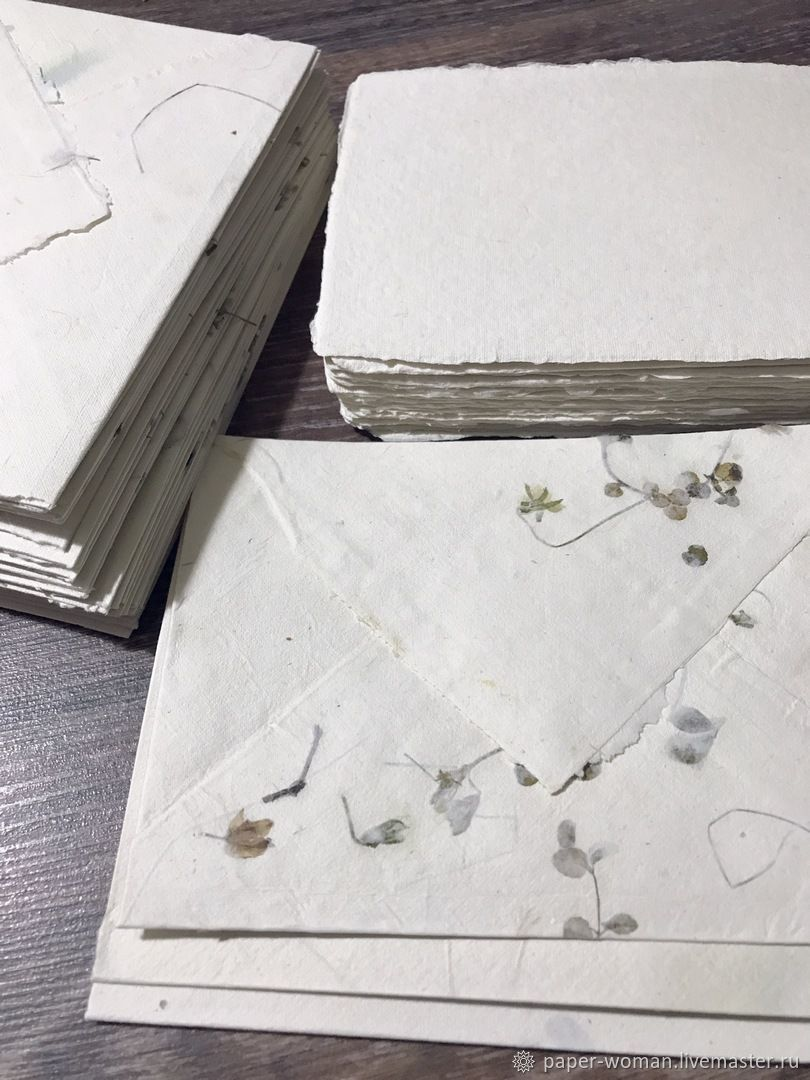 'For tenderness' Set of handmade envelope and paper, Line, Moscow,  Фото №1