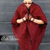 """Одежда ручной работы. Ярмарка Мастеров - ручная работа Валяное двустороннее пальто """"Вишня и шоколад"""". Handmade."""