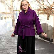 "Одежда handmade. Livemaster - original item Knitted cardigan ""Luxury lilac"". Handmade."