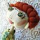 Коллекционные куклы ручной работы. НИКОЛЬ Шарнирная текстильная кукла. AEA. Ярмарка Мастеров. Рыжая кукла, купить подарок