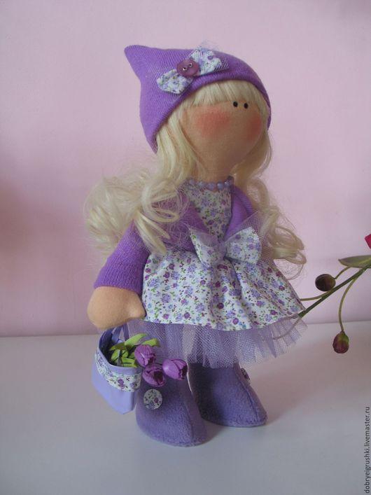 Человечки ручной работы. Ярмарка Мастеров - ручная работа. Купить кукла текстильная Марта. Handmade. Сиреневый, подарок девушке