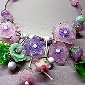 Украшения handmade. Livemaster - original item Necklace tenderness lampwork. Handmade.