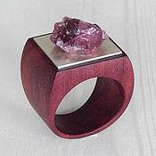 Украшения handmade. Livemaster - original item a ring of amaranth with tourmaline.. Handmade.
