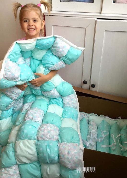 Пледы и одеяла ручной работы. Ярмарка Мастеров - ручная работа. Купить Бомбон одеяло Mint obsess. Handmade. Бомбон