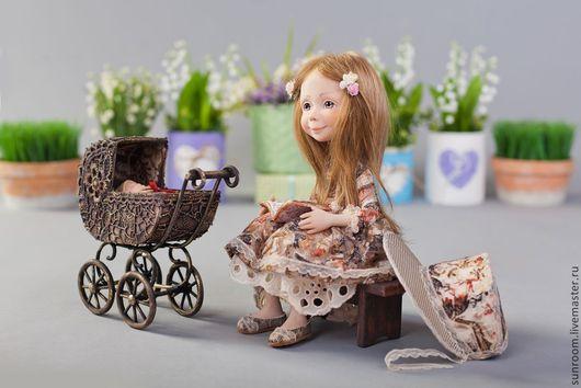 Коллекционные куклы ручной работы. Ярмарка Мастеров - ручная работа. Купить Волшебный лучик детства. Handmade. Коричневый, девочка, детство