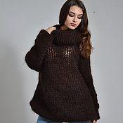 Одежда handmade. Livemaster - original item Sweater mohair Wine brown. Handmade.