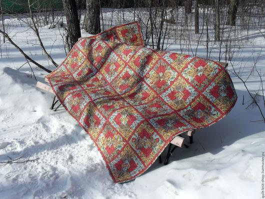 """Текстиль, ковры ручной работы. Ярмарка Мастеров - ручная работа. Купить Одеяло """"Сады Шалимара"""". Handmade. Комбинированный, 100% хлопок"""