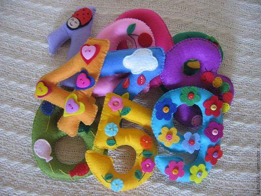 Развивающие игрушки ручной работы. Ярмарка Мастеров - ручная работа. Купить Набор цифр. Handmade. Набор цифр