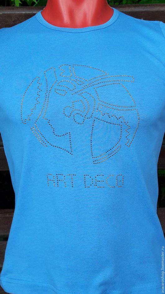 Пляжные туники ручной работы. Ярмарка Мастеров - ручная работа. Купить Футболка мужская или женская. Handmade. Комбинированный, термоаппликация