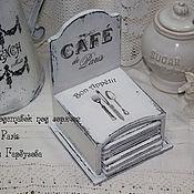 """Для дома и интерьера ручной работы. Ярмарка Мастеров - ручная работа Подставки под горячее """"Cafe de Paris"""". Handmade."""