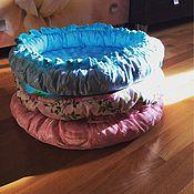 Для домашних животных, ручной работы. Ярмарка Мастеров - ручная работа Круглая лежанка с рюшками. Handmade.