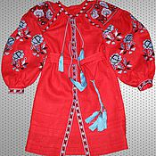 Одежда ручной работы. Ярмарка Мастеров - ручная работа Льняное мини платье Размер XS - XXXL. Handmade.