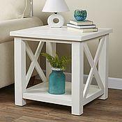 Столы ручной работы. Ярмарка Мастеров - ручная работа Столы: Белый кофейный столик. Handmade.