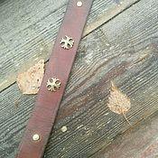 Украшения ручной работы. Ярмарка Мастеров - ручная работа Коричневый браслет из натуральной кожи. Handmade.