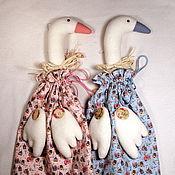 Куклы и игрушки ручной работы. Ярмарка Мастеров - ручная работа Гусь пакетница Веселые домики. Handmade.