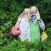 """Куклы и игрушки ручной работы. Ярмарка Мастеров - ручная работа куклы """"Зайцы-неразлучники"""". Handmade."""