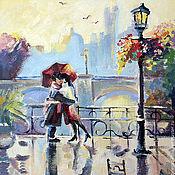 """Картины и панно ручной работы. Ярмарка Мастеров - ручная работа """"Двое в Париже"""". Handmade."""