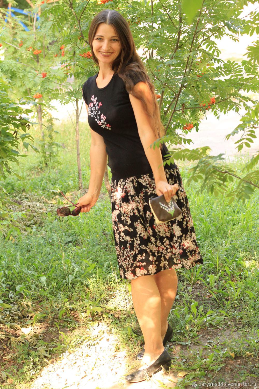 Платье из футболки с вышивкой, Платья, Воронеж,  Фото №1