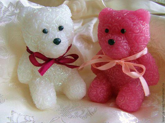 Мыло ручной работы. Ярмарка Мастеров - ручная работа. Купить Мыло Мишки из роз. Handmade. Розовый, мыло в подарок