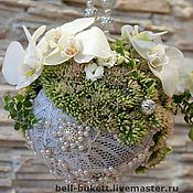 """Свадебный салон ручной работы. Ярмарка Мастеров - ручная работа Букет невесты """"Серебро"""". Handmade."""