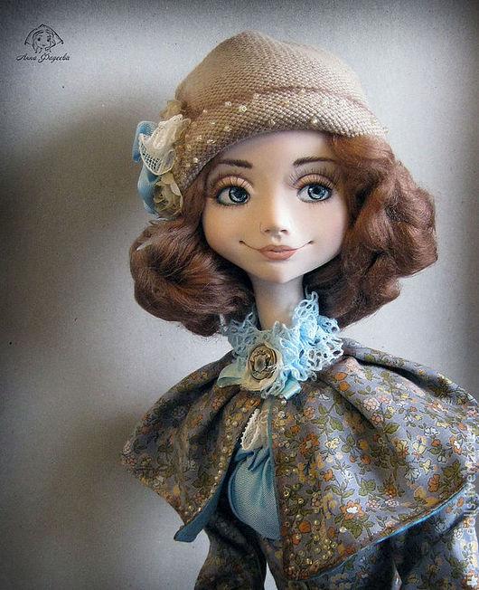 Коллекционные куклы ручной работы. Ярмарка Мастеров - ручная работа. Купить Мира. Handmade. Голубой, ЛивингДолл