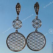 Фен-шуй и эзотерика handmade. Livemaster - original item Flowers of LIFE earrings (long). Handmade.