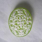 """Косметика ручной работы. Ярмарка Мастеров - ручная работа Прозрачное мыло """"Зеленый ажур"""". Handmade."""