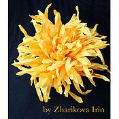 Украшения ручной работы. Ярмарка Мастеров - ручная работа Цветы из ткани - Солнечная хризантема. Handmade.