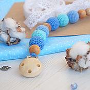 """Куклы и игрушки handmade. Livemaster - original item Держатель для пустышки """"Бриз"""". Handmade."""