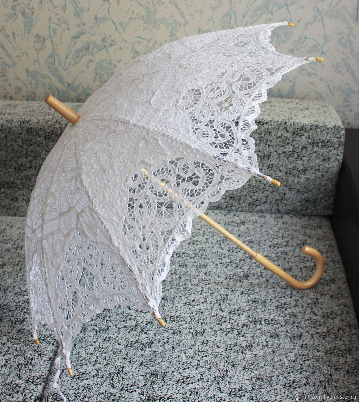 Кружевной зонт от солнца