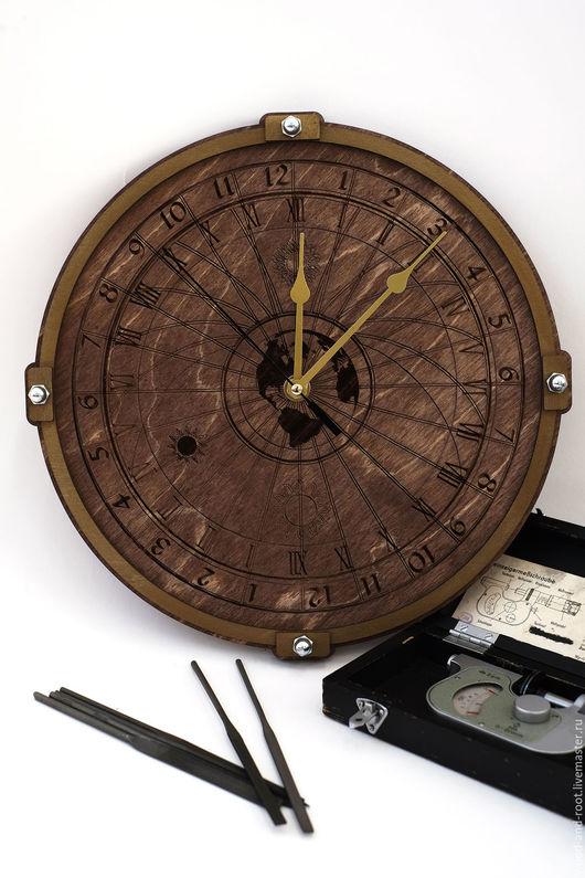 Часы для дома ручной работы. Ярмарка Мастеров - ручная работа. Купить Часы настенные Небесные Сферы. Handmade. Коричневый, астрономия