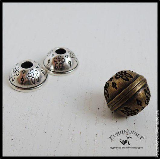 Для украшений ручной работы. Ярмарка Мастеров - ручная работа. Купить Замки магниты  шары узорные Испания. Handmade. Серебряный
